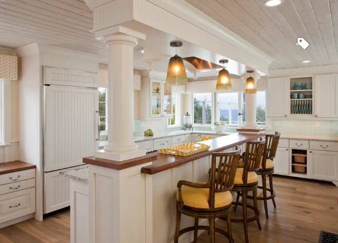 San-Diego-Beach-Style-Cottage-Kitchen-Design 101 Beautiful Beach Cottage Kitchens