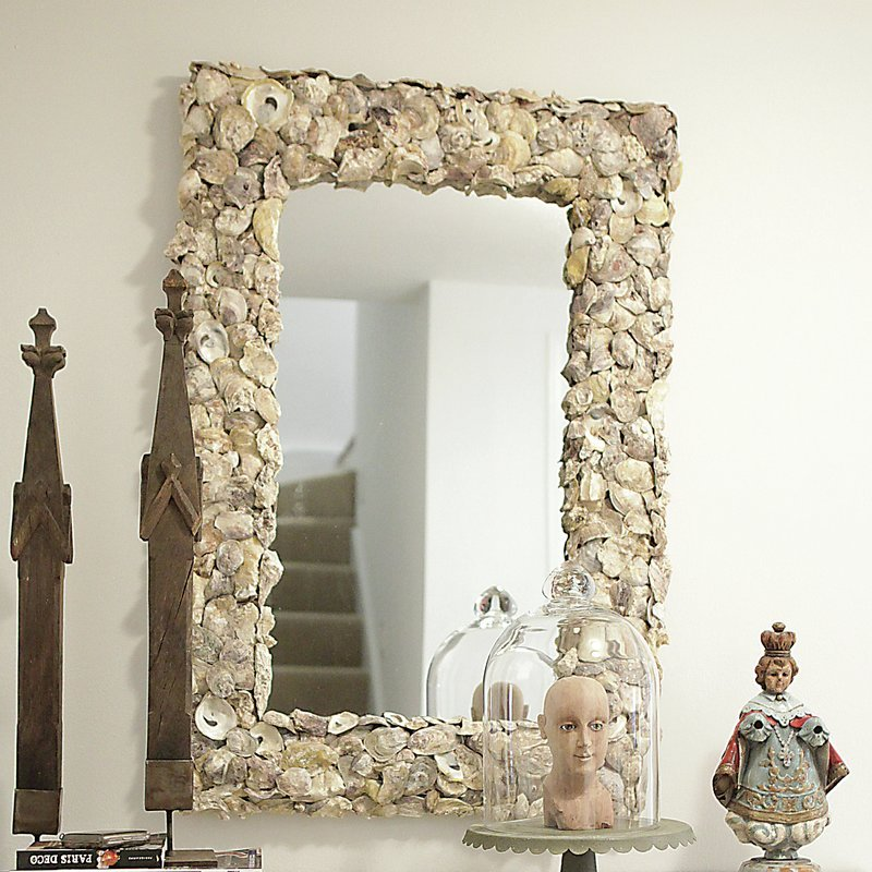 Sanctuary-Oyster-Seashell-Mirror Seashell Mirrors and Capiz Mirrors