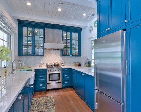 Saratoga-Pool-House-Mimi-Snowden-Design 101 Beautiful Beach Cottage Kitchens