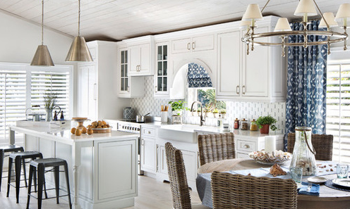 Seaside-Cottage-Kitchen-by-Lisa-Michael-Interiors 101 Beautiful Beach Cottage Kitchens