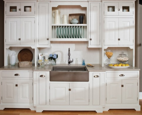 Small-Beach-House-Kitchen-by-Dura-Supreme-Cabinetry 101 Beautiful Beach Cottage Kitchens