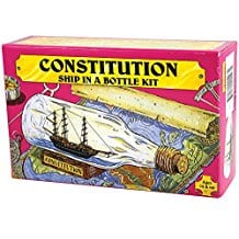 USS-Constitution-Ship-Build-Your-Own-Boat-In-A-Bottle-Model-Kit Ship In A Bottle Kits and Decor