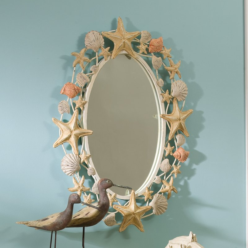 Watford-Shell-Metal-Mirror Seashell Mirrors and Capiz Mirrors