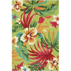 amberjack-painted-palm-leaves-flowers-area-rug Tropical Rugs and Tropical Area Rugs
