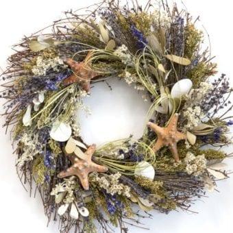 beach wreaths - Beach Christmas Wreath
