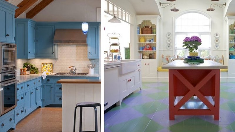 beach cottage kitchens