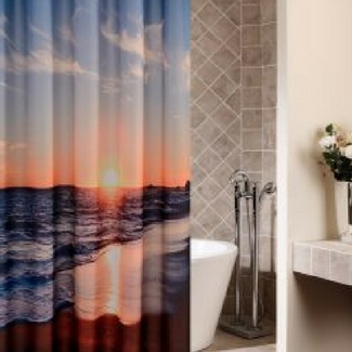 beach-shower-curtains Beach Home Decor