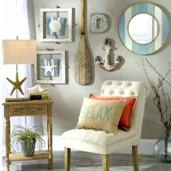 beach-themed-wall-decorations Beach Decor and Coastal Decor