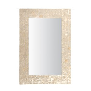 beachcrest-home-capiz-shell-wall-mirror Seashell Mirrors and Capiz Mirrors
