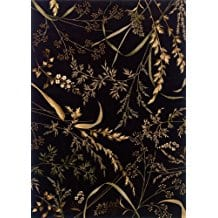 black-leaves-tropical-area-rug-6x9 Tropical Rugs and Tropical Area Rugs