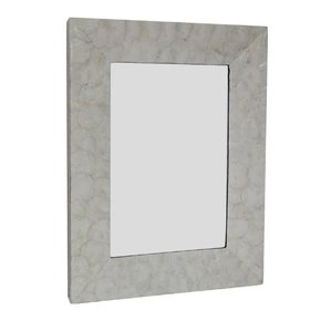 capiz-shell-wall-mirror-rectangle Seashell Mirrors and Capiz Mirrors