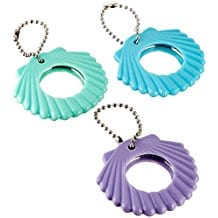 compact-seashell-keychain-mirror Seashell Mirrors and Capiz Mirrors