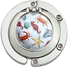 crab-starfish-shell-compact-mirror Seashell Mirrors and Capiz Mirrors
