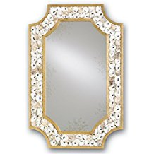 currey-and-company-oyster-shell-framed-mirrors Seashell Mirrors and Capiz Mirrors
