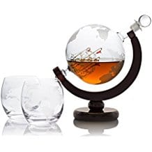 decanter-globe-bar-set-with-large-ship-inside Ship In A Bottle Kits and Decor