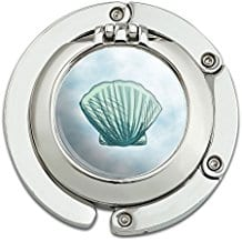 foldable-beach-seashell-compact-mirror Seashell Mirrors and Capiz Mirrors