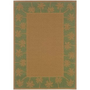 goldenrod-beigegreen-indooroutdoor-area-rug Tropical Rugs and Tropical Area Rugs