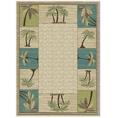 hayward-coastal-palm-tree-area-rug Beach Rugs and Beach Area Rugs