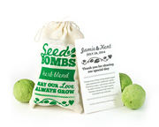 herb-seed-bombs-favors Plantable Wedding Favors and Seed Packet Wedding Favors