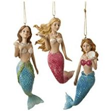 kurt-adler-mermaid-themed-ornament 100+ Mermaid Christmas Ornaments
