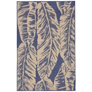 lambert-banana-leaf-blue-indooroutdoor-area-rug Tropical Rugs and Tropical Area Rugs
