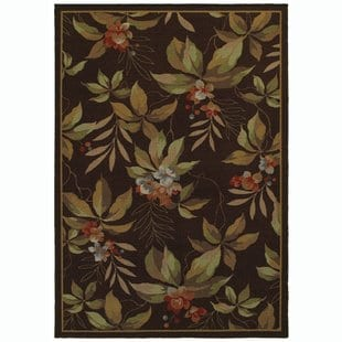 livingon-browngreen-indooroutdoor-area-rug Tropical Rugs and Tropical Area Rugs