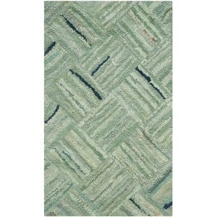 millia-hand-tufted-green-area-rug Tropical Rugs and Tropical Area Rugs