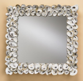 natural-shell-oyster-shell-mirror Seashell Mirrors and Capiz Mirrors