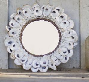 oyster-seashell-mirrors Seashell Mirrors and Capiz Mirrors