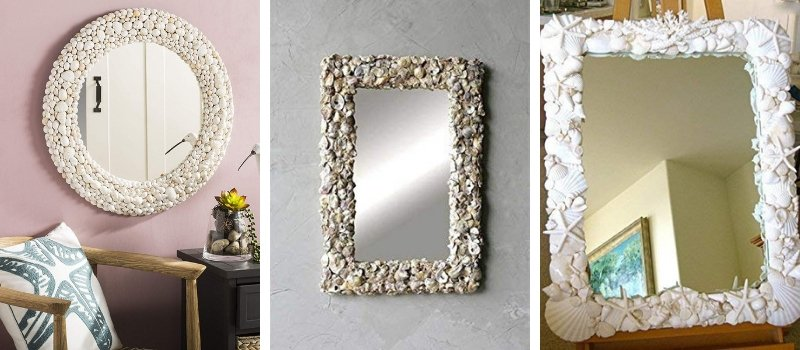seashell mirrors