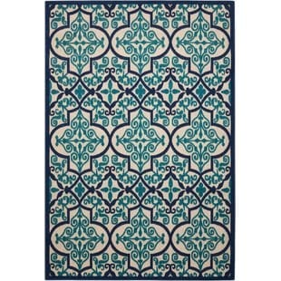 seaside-navyteal-indooroutdoor-area-rug Tropical Rugs and Tropical Area Rugs