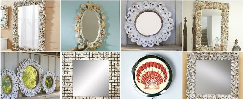 Oyster Capiz and Sea Shell Mirrors