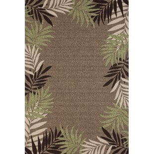 springcreek-beautiful-tropical-palm-leaves-browngreen-indooroutdoor-area-rug Tropical Rugs and Tropical Area Rugs