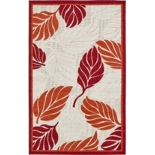 westerly-beigered-indooroutdoor-area-rug Tropical Rugs and Tropical Area Rugs