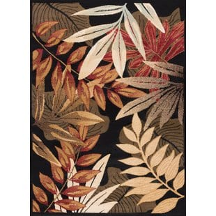 yearsley-black-area-rug Tropical Rugs and Tropical Area Rugs