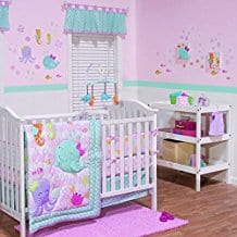 3-Piece-Baby-Crib-Bedding-Set-for-Girls Nautical Crib Bedding and Beach Crib Bedding