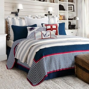 3-piece-nautical-quilt-set-beachcrest-home Nautical Quilts and Beach Quilts