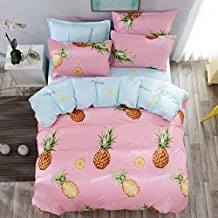 4pcs-Children-Beddingset-Duvet-Cover-Set-One 50+ Pineapple Bedding Sets, Quilts, and Duvet Covers