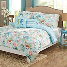 5-Piece-Blue-Multi-Sealife-Ocean-Animals-Themed-Comforter Nautical Bedding Sets & Nautical Bedspreads