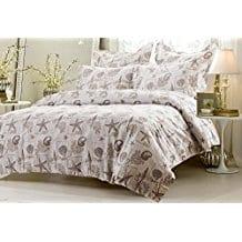 5pc-Seashell-Beige-Duvet-Cover-Set Seashell Bedding and Comforter Sets