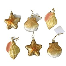 6-Blown-Glass-Shell-Seashell-Christmas-Ornaments 100+ Best Seashell Christmas Ornaments