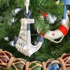 AnchorAnwenRusticBlueDecorativeChristmasTreeOrnament Anchor Christmas Ornaments