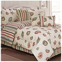 Ashley-Cooper-7-Pc-Reversible-Sea-Shell-Comforter-Set Nautical Bedding Sets & Nautical Bedspreads