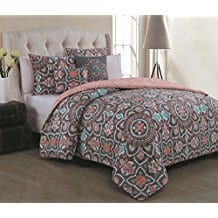 Avondale-Manor-Ibiza-5-piece-Duvet-Cover-Set-King-Coral Coral Bedding Sets and Coral Comforters
