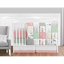Baby-Bedding-9-Piece-Crib-Set-with-Bumper Nautical Crib Bedding and Beach Crib Bedding