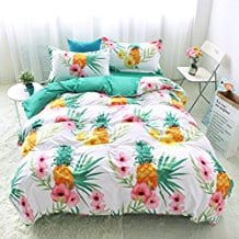 Bedding-Duvet-Cover-Sets-pineapple-theme 50+ Pineapple Bedding Sets, Quilts, and Duvet Covers