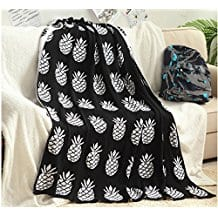 Brandream-White-and-Black-Pineapple-Kids-Crib-Blankets 50+ Pineapple Bedding Sets, Quilts, and Duvet Covers