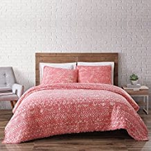 Brooklyn-Loom-Sand-Washed-Cotton-Quilt-Set-Coral Coral Bedding Sets and Coral Comforters
