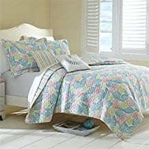 Brylanehome-Antigua-Oversized-3-Pc.-Quilt-Set Seashell Bedding and Comforter Sets