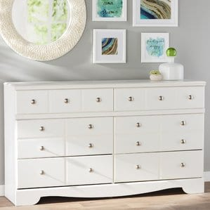 Carrabassett6DrawerDoubleDresser Beach Bedroom Furniture and Coastal Bedroom Furniture